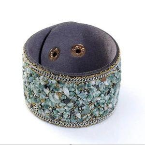 2/$20💥Be Still Boutique Slate Stone Cuff Bracelet